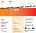 """""""20 Jahre Jubiläum KSD"""" Forum für Kunst und Architektur, Kunstverein e.V., Essen (G), 2008"""