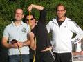 Ein olympiareifes Messteam: Herr Geeck, Herr Rieder und Herr Braun