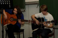 Gitarren-AG, Larissa Fahrentholz und Alex Wilhelm