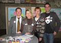 4 MitgliederInnen unseres Planungsteams: v.l.n.r. Marco Rieder, Daniela Micek, Marianne Ochsenreither und Daniel Jacob