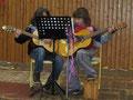 Gitarrenduo: Simon und Lukas Haria (6c und 5b)