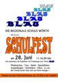 Das Plakat zu unserem Schulfest