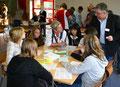 Frau Nachbar-Geiger und unser Jobfux Herr Schatull waren als Unterstützung für unsere Schülerinnen und Schüler dabei