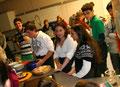 Bewirtung durch Schülerinnen und Schüler der Klasse 8d