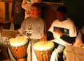 Simon und Tarik an den Drums