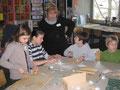 Unsere Kollegin Marika Greslon beim Schnupperunterricht Bildende Kunst