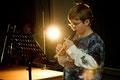 Simon Krug (5b) an der Flöte