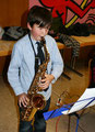 Marius Bopp (5b) am Alt-Saxophon