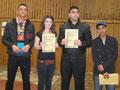 Die Gewinner der Talentshow bei der Siegerehrung
