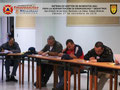 Toma parcial del lateral derecho del aula con los participantes elaborando el Instrumento de Evaluación del Instructor y del Curso.