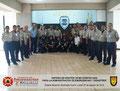 Toma General del Grupo de Participantes y del Instructor en el Presídium de Honor de la Academia de Policía.