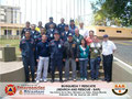 Toma parcial del Grupo de Participantes y del Instructor en el lateral derecho del Monumento Escultórico de la UTAL.