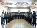 Toma General del Grupo de Participantes y del Instructor en el Presídium de la Academia de Policía.