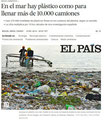 En el mar hay plástico como para llenar 10.000 camiones