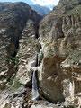Peru_Cordillera Negra_Pato Canyon - Veila de la Novia Wasserfall2