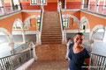 Mexiko_Hochland_Aguascalientes_Simone in der Regierung
