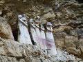 Peru_Karajia_Sarkophagi in der Felswand2