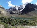 Peru_Cordillera Blanca_Bergsee und Gletscher