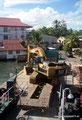Panama_Bocas del Toro_Probleme beim Beladen der Fähre
