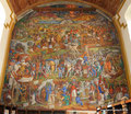 Mexiko_Mexiko-City und Umgebung_Pátzcuaro_Mural in der ehemaligen Kirche