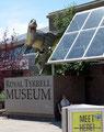 Kanada_Alberta_Drumheller_Royal Tyrrell Museum_Pancho am Eingang