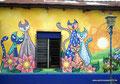 El Salvador_Ataco_Katzen auf der Wand