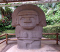 Kolumbien_San Augustín_Archäologischer Park_Aus Vulkangestein2