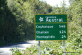 Chile_Carretera Austral_Straßenschild