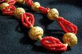 collana corallo e oro sardegna