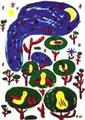 「夜の木3本、月の実がなる」