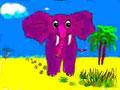 Elefant auf Wanderung