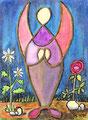 Engel des Gebets 2010  (18 x 24 cm, Ölkreide)