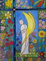 Blumenengel 2021 (Aquarell und Stift)