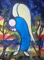 Engel der Trauer 2016 (30 x 40 cm, Aquarell)