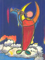 Engel des Gerichts 2011 (18 x 24 cm, Ölkreide)