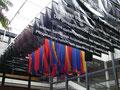 Installation des Land-Art-Projekts der Künstlerin Monika Kühling  vom Upstalsboom im Niedersächsischen Landtag