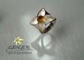 Geiger Goldschmiede Silberring mit Stein  Goldschmiedekunst in formvollendung