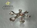 Geiger Goldschmiede Silberanhänger mit Stein Goldschmiedekunst in formvollendung