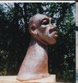 Buste grès cuisson bois Noborigama -  Caco -Juan José Ruiz Artiste/Auteur Sculpteur céramiste