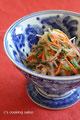 豚しゃぶと五色野菜のごま酢和え