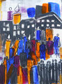 Begegnungen - Leben, Acryl, 60x80cm