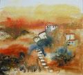 un sogno, Aquarell auf Leinwand, 80x80cm, verkauft