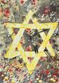 Davidstern: Symbol für ein von Gott errwähltes Volk. Ein Volk mit Geschichte, die begleitet ist von Wundern über Wundern! Durch alle Zerstörung und Angriffe hindurch steht fest: Gott wohnt in den Lobgesängen Israels.