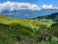 Unser Aufstiegsweg vom Seebensee zum Maschgenkamm