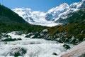 Foto von 1985: Val Morteratsch am Weg zur Gletscherzunge