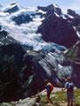 Rückkehr zur Glecksteinhütte vom Aussichtspunkt auf den Eiger