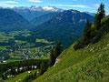 Dachsteinmassiv aus dem steilen Westhang des Losers
