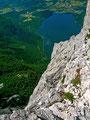 Eindrucksvolle Tiefblicke vom Trisselberg über die Trissselwand auf den Altausseer See