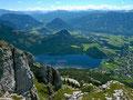 Blick vom Losergipfel auf Altausseer See und Ausseerland