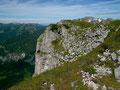Steilabfall am Rande des Loser-Gipfelplateaus